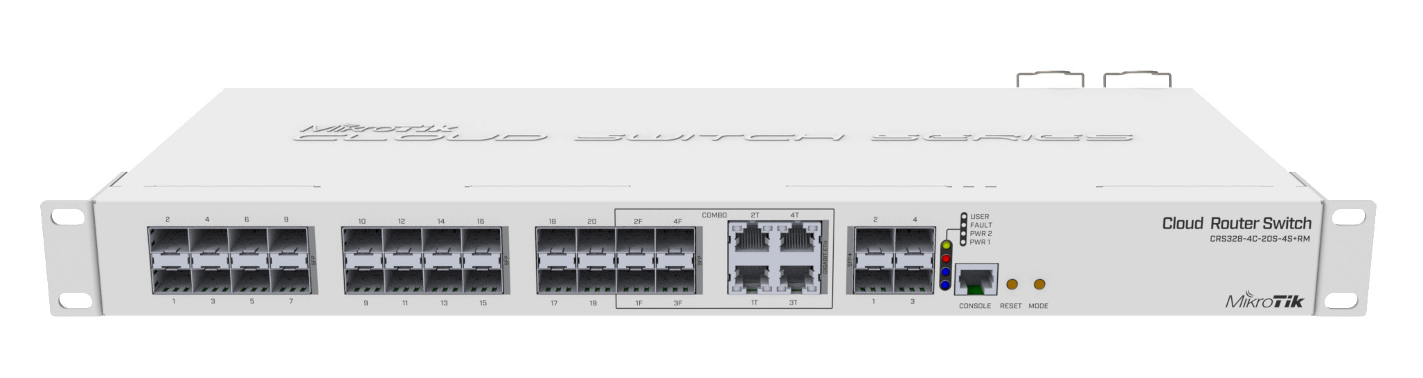 MikroTik Cloud Router Switch CRS328-4C-20S-4S+RM dual boot, 20x SFP, 4x Combo, 4x SFP+