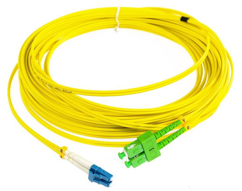 Patchcord światłowodowy Sc Apc Lc Upc Sm Duplex 15m