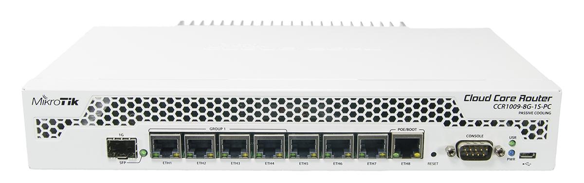 MikroTik Cloud Core Router CCR1009-8G-1S-PC